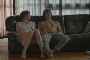"Diego Peretti and Julianne Nicholson in ""Initials S.G."""