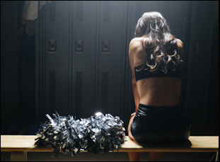 """A scene from """"A Woman's Work: The NFL's Cheerleading Problem"""""""