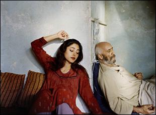 """Golshifteh Farahani and Hamid Djavadan in Atiq Rahimi's """"The Patience Stone"""""""