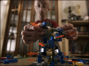 """Sam Berns with his Legos in """"Life According to Sam"""""""