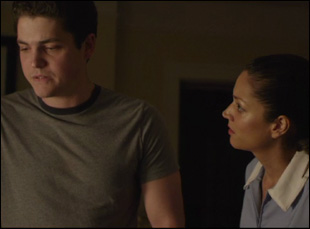 "Philip Ettinger and Paula Garces in ""The Maid's Room"""