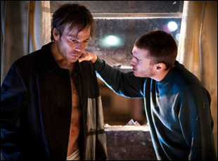 "Stephen Dorff and Emile Hirsch in ""The Motel Life"""