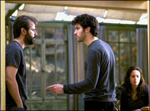 "Ali Mousaffa and Tahar Rahim in Asghar Farhadi's ""The Past"""