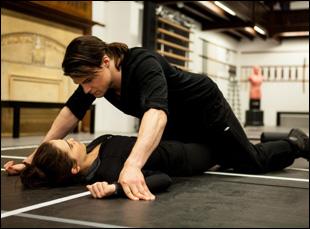 "Zoey Deutch and Dominic Sherwood in ""Vampire Academy"""