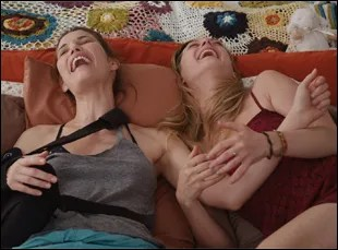 "Leslie Bibb and Marin Ireland in ""Take Care"""