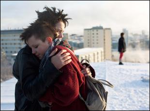 "Jonathan Salomonsson, Mira Grosin and Mira Barkhammar in ""We Are the Best"""