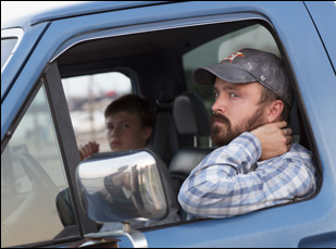 "Aaron Paul and Josh Wiggins in ""Hellion"""