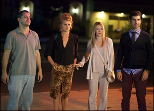 "Demetri Martin, Eliza Coupe, Mary Elizabeth Ellis, and Kyle Bornheimer in Mo Perkins' ""The Last Time You Had Fun"""