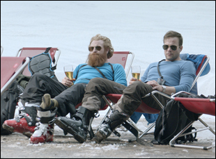 "Johannes Bah Kuhnke and Kristofer Hivju in ""Force Majeure"""