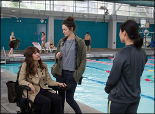 """Emmy Rossum and Hilary Swank in """"You're Not You"""""""