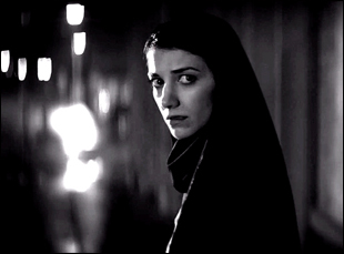 "Sheila Vand in ""A Girl Walks Home Alone at Night"""