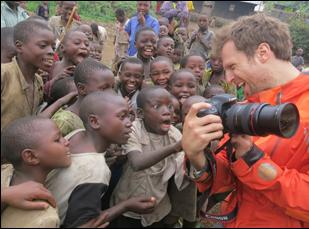 """Orlando Von Einsiedel filming """"Virunga"""""""