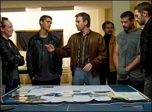 """Ewan McGregor, Nash Edgerton, Brenton Thwaites in """"Son of a Gun"""""""