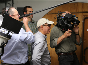 "Robert Kenner filming ""Merchants of Doubt"""