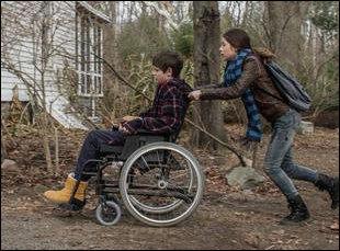 "Natasha Calis and Charlie Tahan in ""The Harvest"""