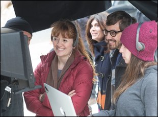 "Marielle Heller on the set of ""Diary of a Teenage Girl"""