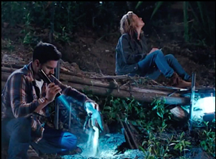"Jake Johnson and Brie Larson in ""Digging for Fire"""