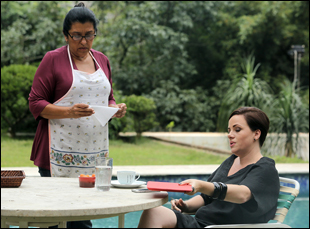 "Regina Case and Karine Teles in ""The Second Mother"""