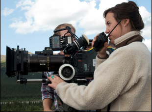 "Hillary Spera on the set of ""Wildlike"""