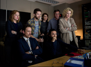 "Elisabeth Moss, Topher Grace, Dennis Quaid and Cate Blanchett in ""Truth"""