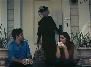 """Fionnula Flanagan, Adrian Grenier and Angela Trimbur in """"Trash Fire"""""""
