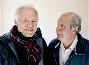 "Hannes Holm and Rolf Lassgard from ""A Man Called Ove"""