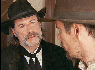 "John Travolta and Ethan Hawke in ""In a Valley of Violence"""