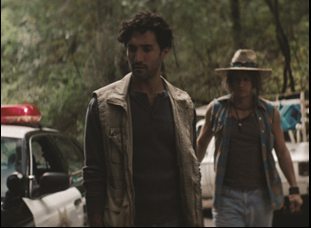 "Dominic Rains and James Franco in ""Burn Country"""