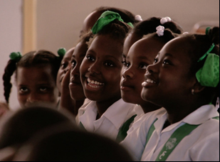 """A scene from Owsley Brown's """"Serenade for Haiti"""""""