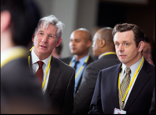 "Richard Gere and Michael Sheen in ""Norman"""