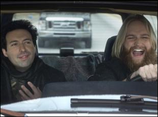 """Alex Karpovsky and Wyatt Russell in """"Folk Hero & Funny Guy"""""""