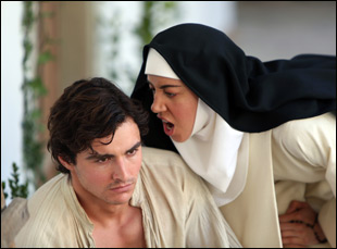 "Aubrey Plaza and Dave Franco in ""The Little Hours"""