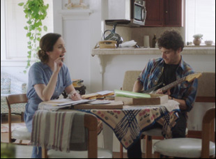 """Zoe Lister Jones and Adam Pally in """"Band Aid"""""""