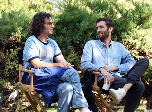 "Dave McCary and Kyle Mooney on the set of ""Brigsby Bear"""