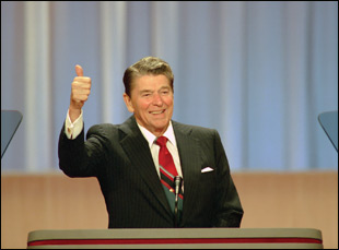 """A scene from Sierra Pettengill and Pacho Velez's """"The Reagan Show"""""""