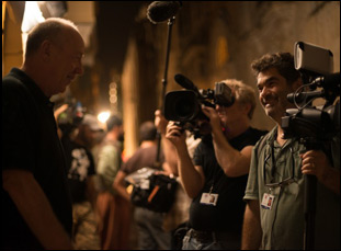 "Joe Berlinger and Terry George on the set of ""The Promise"" in ""Intent to Destroy"""