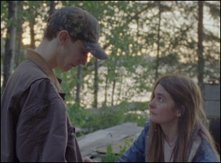 """Theodore Pellerin and Shirley Henderson in """"Never Steady, Never Still"""""""