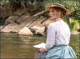 "Jessica Chastain in ""Woman Walks Ahead"""