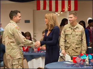 "Alden Ehrenreich and Tye Sheridan and Jennifer Aniston in ""The Yellow Birds"""