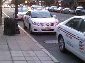 Taxi cab stand stop