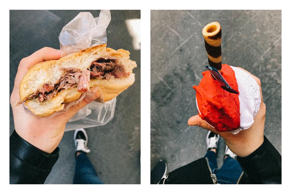 perchè no gelato firenze panino col lampredotto cibo