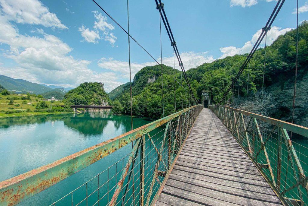lago del corlo ponte della vittoria