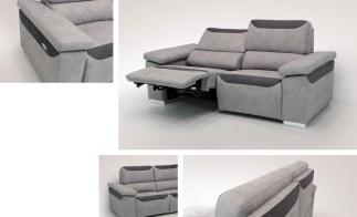 Sofá com relax electrico