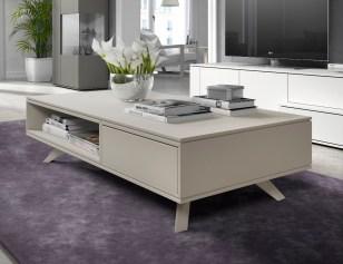 Mesa de centro em lacado com 2 gavetas. Personalizamos ao seu gosto e estilo.