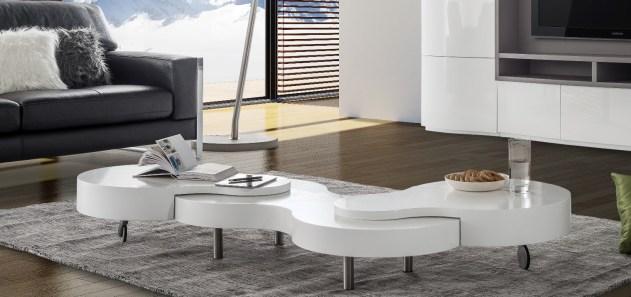 Mesa de Centro em lacado alto brilho branco. Personalizamos ao seu gosto e estilo.