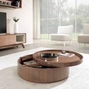 Mesa de centro em nogueira com tampo removível. Personalizamos ao seu gosto e estilo.