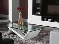 Mesa de Centro em lacado alto brilho branco com tampo em vidro. Personalizamos ao seu gosto e estilo.