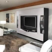 Estante em carvalho cor preto e lacado alto brilho branco. Personalizamos os acabamentos e as dimensões.