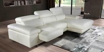 Sofá 3L com assentos deslizantes e costas reclináveis