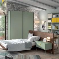 Quarto Juvenil em carvalho vintage e lacado. Personalizamos o nosso mobiliário, contacte-nos!